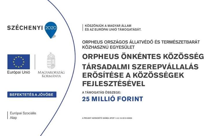 Orpheus Önkéntes Közösség,, EFOP-1.3.5-16-2016-00056