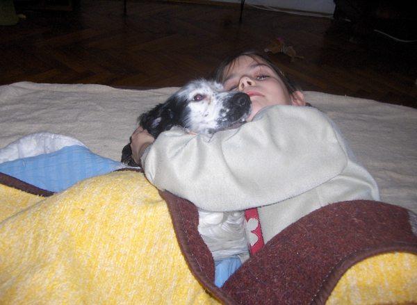 Betegápolás kutyával:)