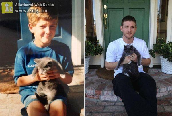 A cica és a fiú örök barátsága
