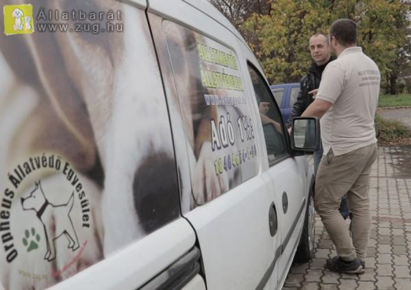 Állatmentő kocsi adomány, állatmentésre