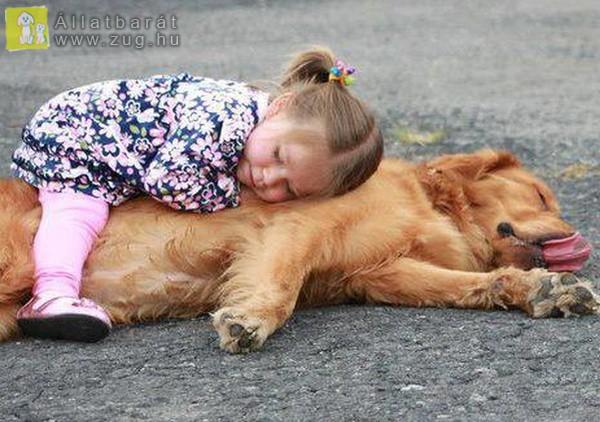 Gyermek-kutya barátság