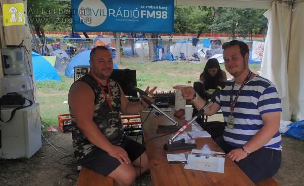 Állatvédelem a Civil Rádió FM98 -on, Orpheus, Sziget 2017 Fesztivál
