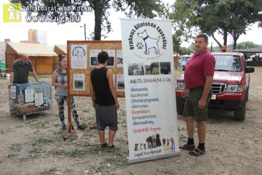 Állatvédelmi rendezvényen