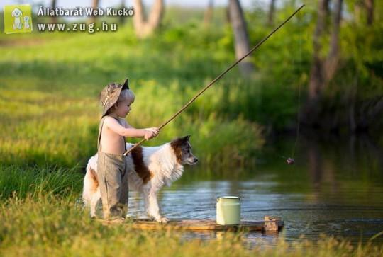 Horgászni jó - a kutya is élvezi!