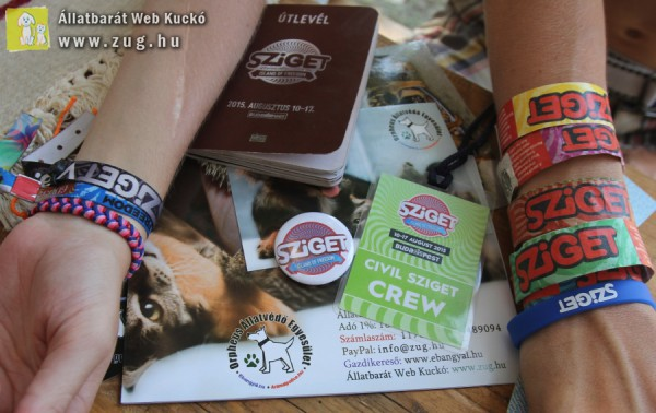 Sziget 2015 - Civil Sziget, Orpheus Állatvédő Egyesület