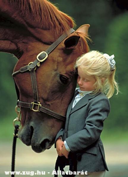Kislány, nagy ló