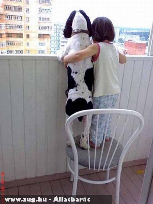 Kutyus és szeretõ gazdija