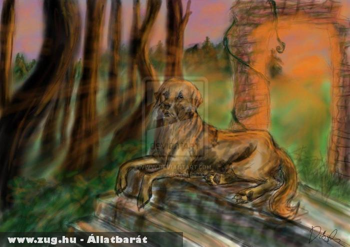 Digitális festményem a kutyámról =)