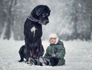 Óriás kutyusok apró gazdáikkal